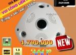 Camera FISHEYE Wifi (360°) thông minh